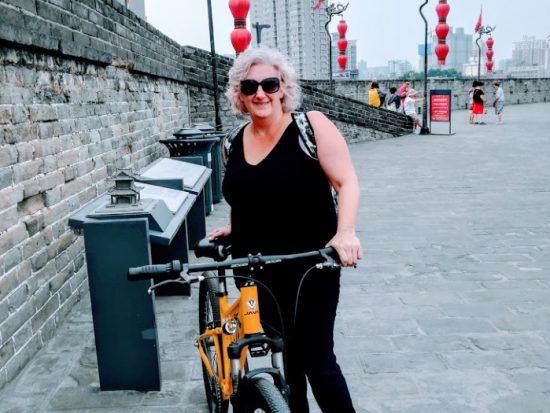 Cycling the city Wall Xian