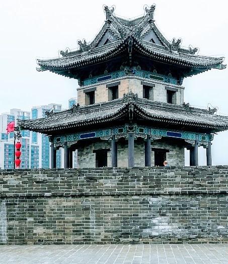 Gatehouse on the City wall Xian min