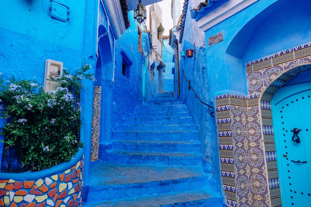 Image of the beautiful buildings in Morocco