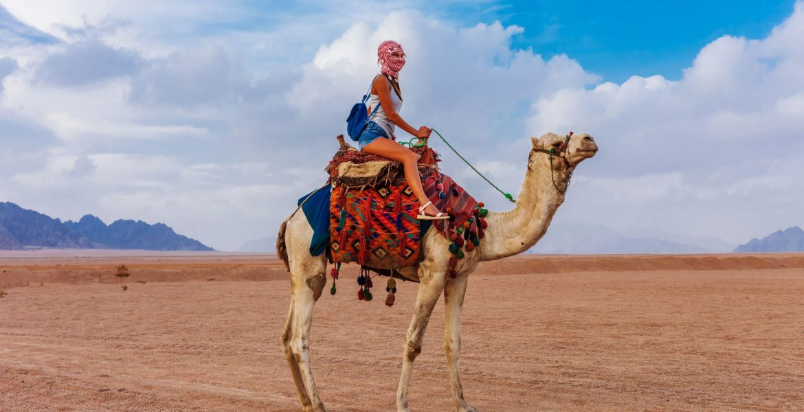 Woman traveling solo to Egypt