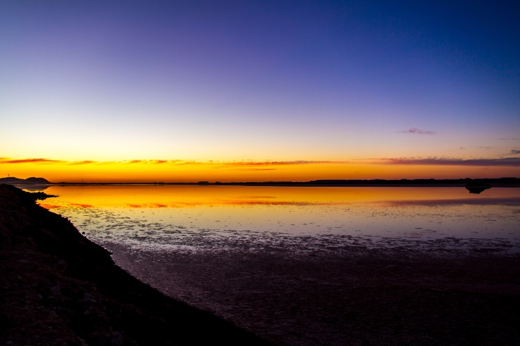 Siwa Lake at Sunset