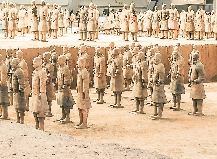 Image of Terracotta warrriors at Xi'an in China