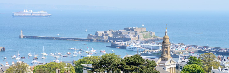 Castle Cornet and St Peter Port Harbour, Guernsey
