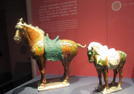 Glazed Terracotta Horses Shaanxi History Museum China