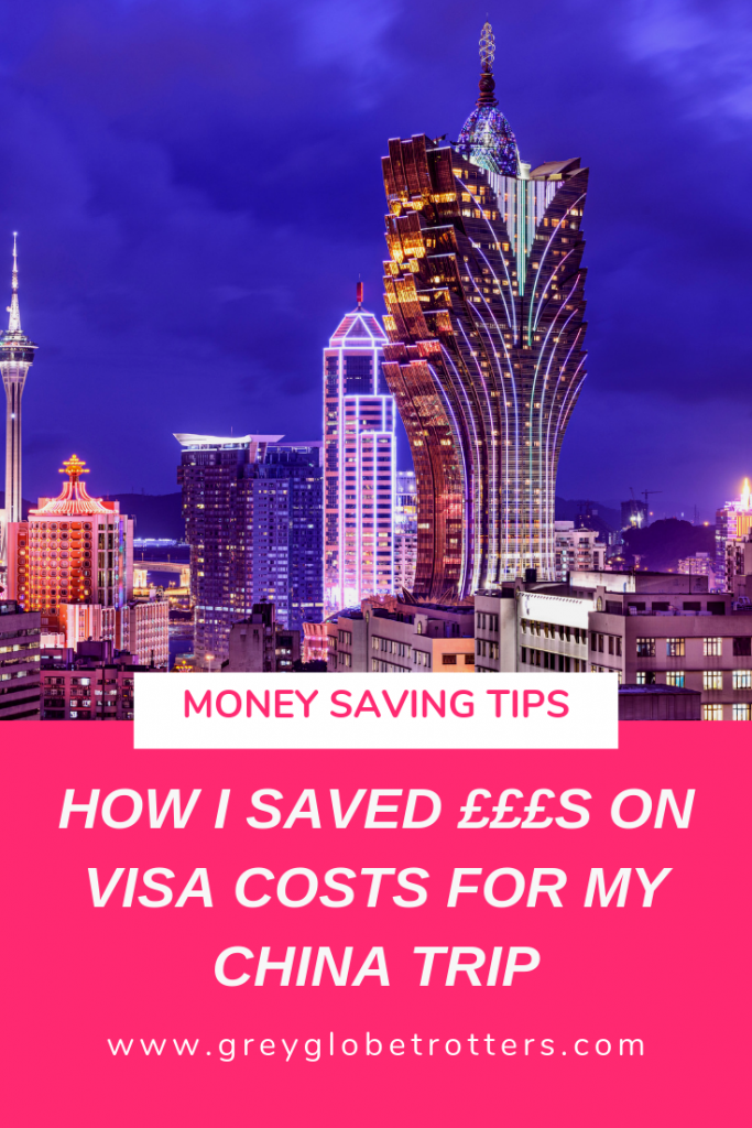 How I saved big money on my China Travel Visa costs