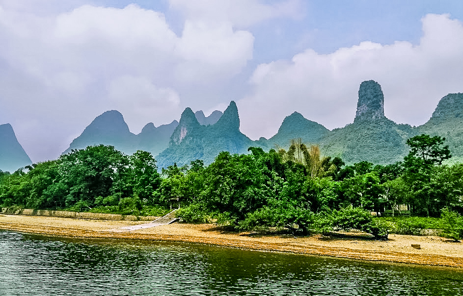 Goat Mountain, seen from a River Cruise in Guilin - Grey Globetrotters