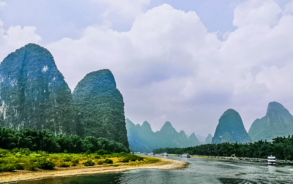 The best way to see China's beautiful Karst mountains is on a river cruise in Guilin