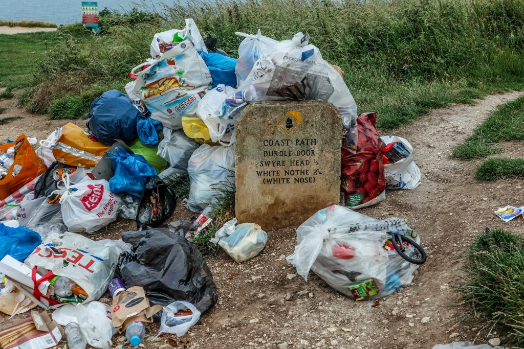 On the day I visited, Dorset's stunning Jurassic coast at Durdle Door was spoiled with mounds of rubbish
