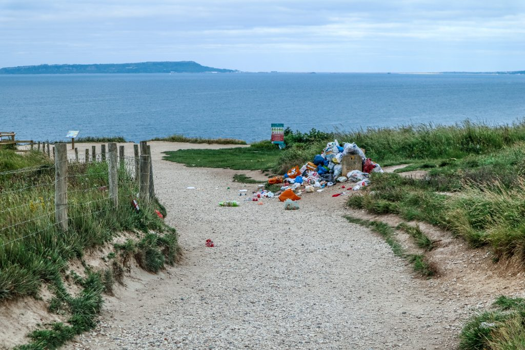 Sadly, on the day I visited, Dorset's stunning Jurassic coast at Durdle Door was spoiled with mounds of rubbish