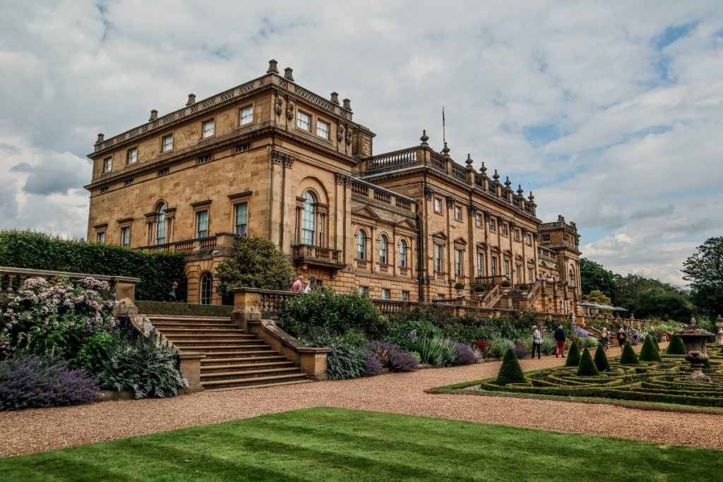 Visiting Harewod House - A Grand Yorkshire Day Out - Grey Globetrotters. View of the House from the Terrace