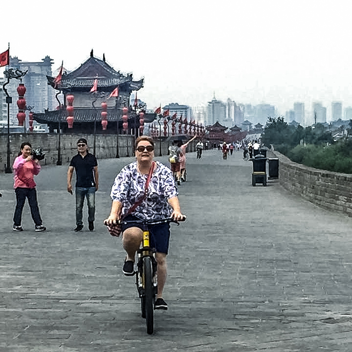 Amazing things to do in Old Xian City - cycle the City Wall.