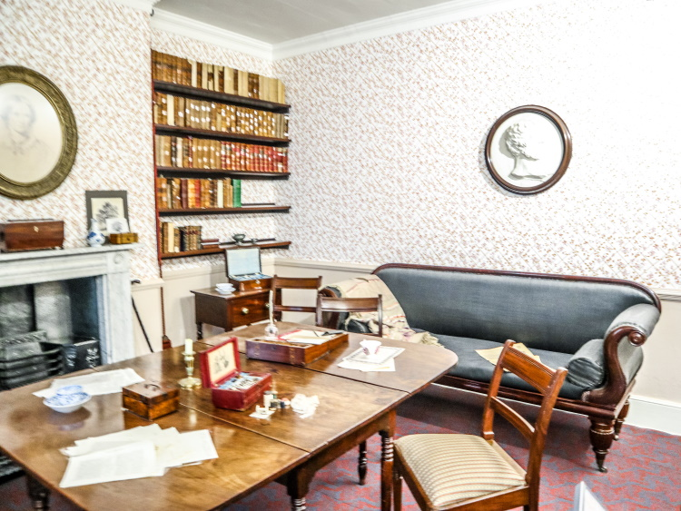 The room and desk where literary masterpieces Wuthering Heights, Jane Eyre and The Tenant of Wildfell Hall were written by Emily, Charlotte and Anne Bronte