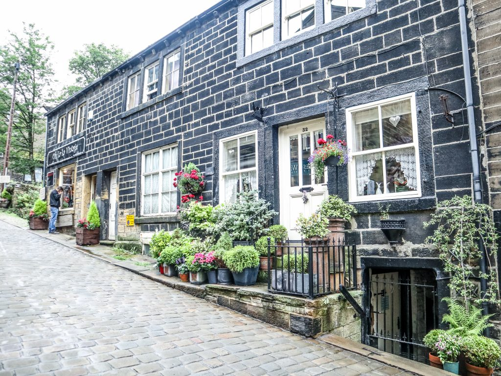 Check out the gradient on the hill - and the uber pretty house in Haworth Village - home of the Bronte Sisters