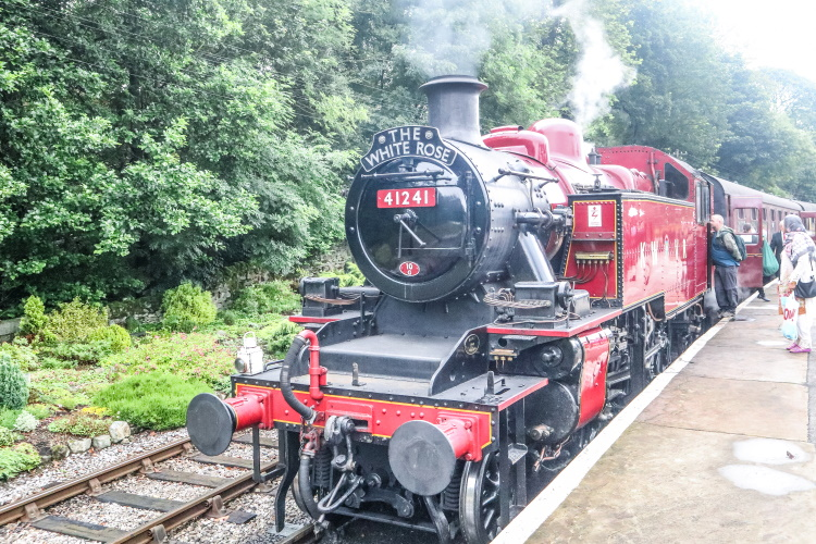 "Steam Train ""The White Rose"" of the  Keighley & Worth Valley Railway - the perfect way to visit Haworth, home of the Bronte Sisters"
