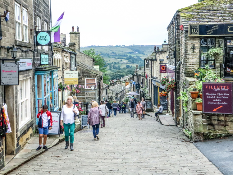 Main Street, Haworth. The home of the Bronte Sisters | GreyGlobetrotters.com