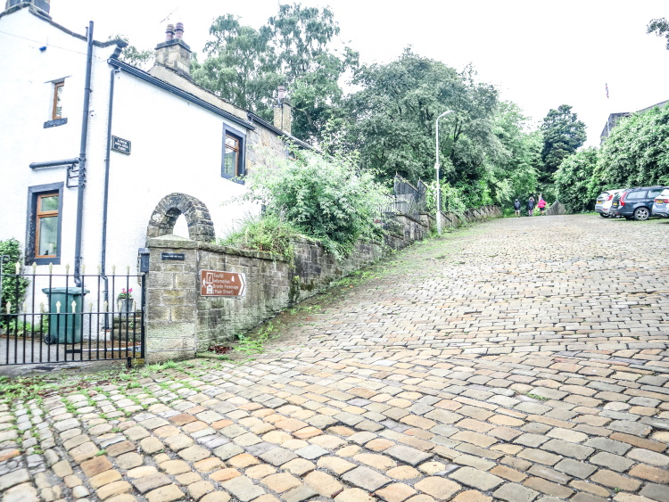 The first part of the walk from Haworth station to Haworth village. Some seriously slippery cobbles and that hill just got steeper!