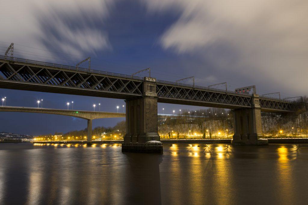 King Edward VII Bridge between newcastle and gateshead