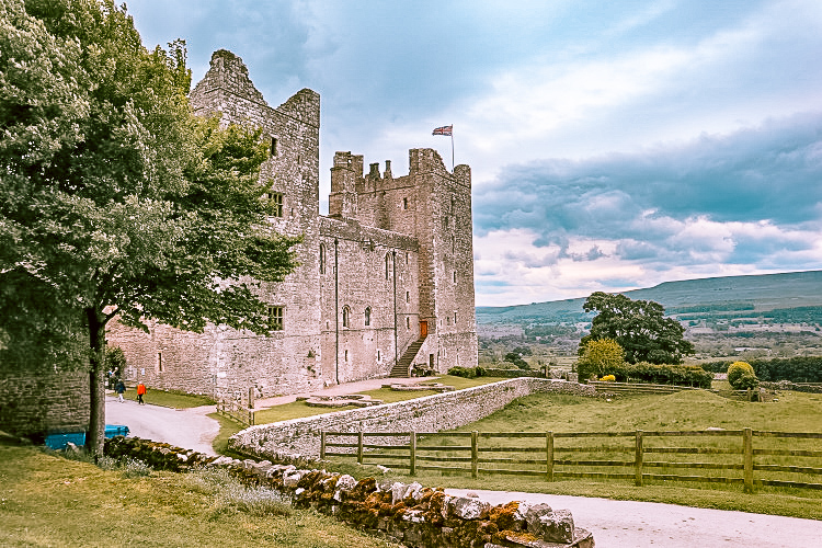 The stunning view from Bolton Castle