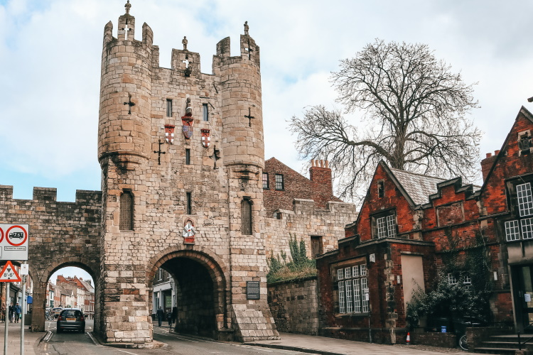 Medieval York city gate, York, UK