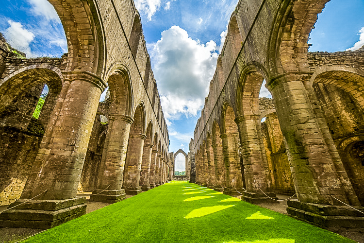 The ruins of Fountains Abbey in North Yorkshire - A fabulous day trip from York