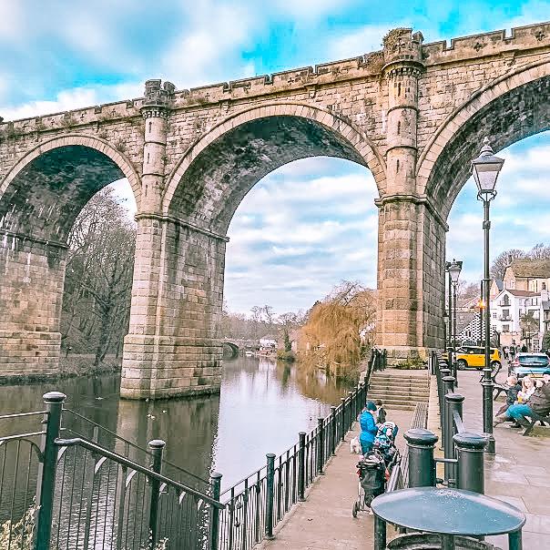 The beautiful Victorian Aqueduct over the River Nidd, at Knaresborough, UK