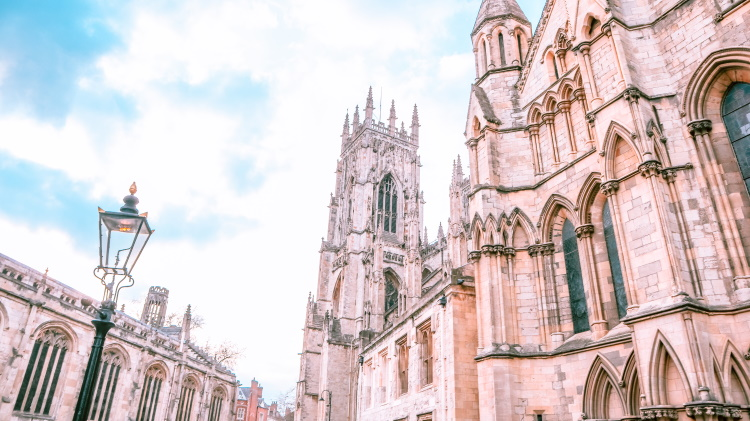 The majestic York Minster, viewed from the side