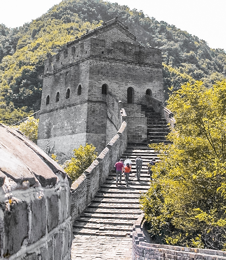 One of the gatehouses on the Great Wall off China - see them on a Great Wall of China tour
