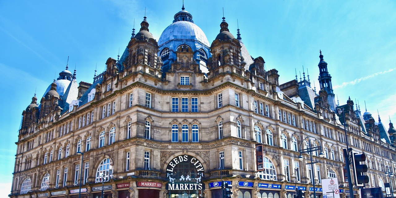 The most instagrammable places in Leeds, UK include the Victorian Architecture of Leeds City Markets at Kirkgate