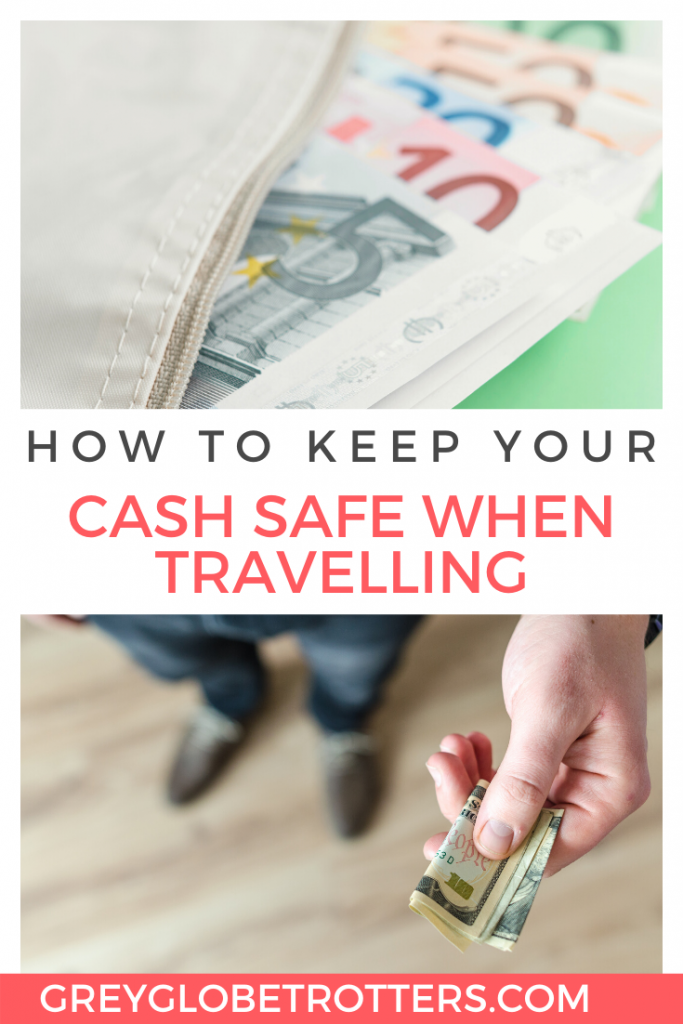 How to keep your cash safe when traveling | Euro notes of different denominations spilling out from a wallet