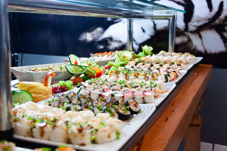 Beware of the buffet while on holiday - do you know how long that sushi has been sitting out under those lights? You could end up with Delhi belly