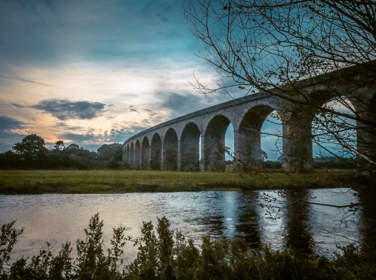 The magnificent Victorian Arthington Viaduct, carrying trains from Leeds to Harrogate and York