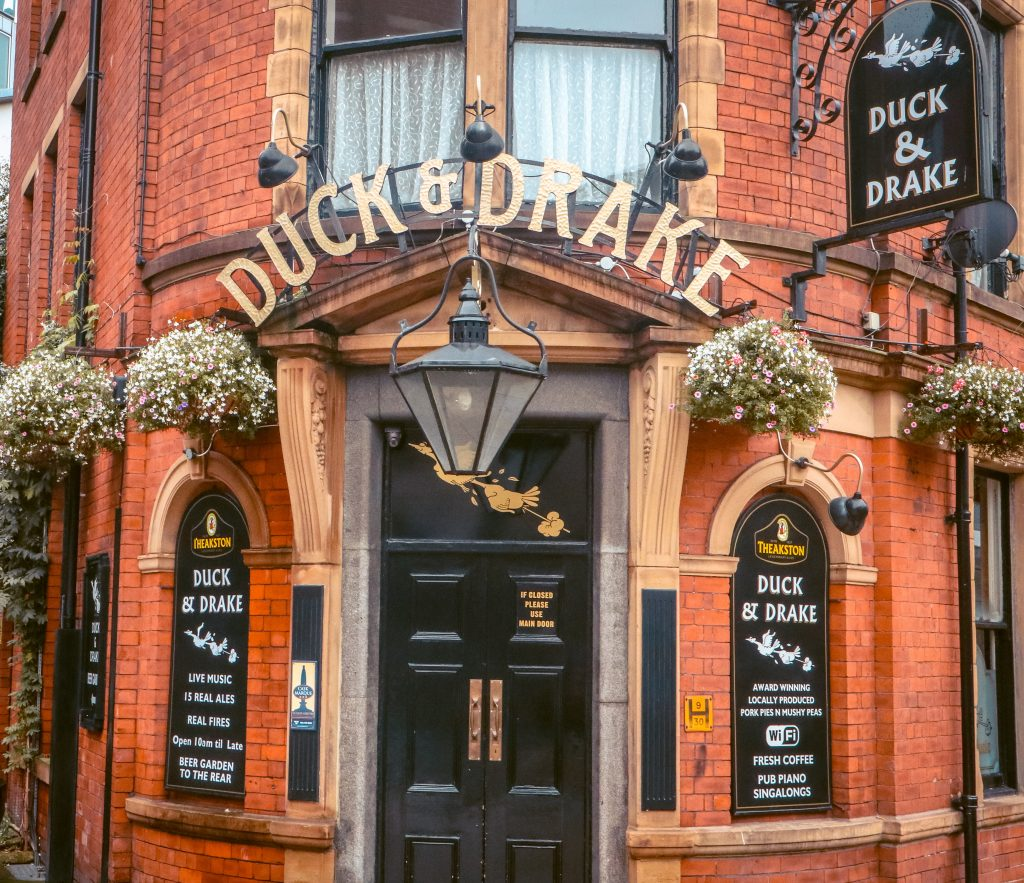 Leeds is packed with characterful pubs to explore, like the attractive red brick Duke & Drake pub