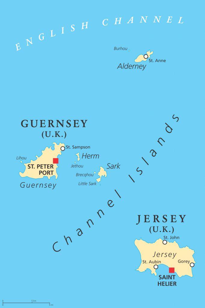 Isle of Herm Map