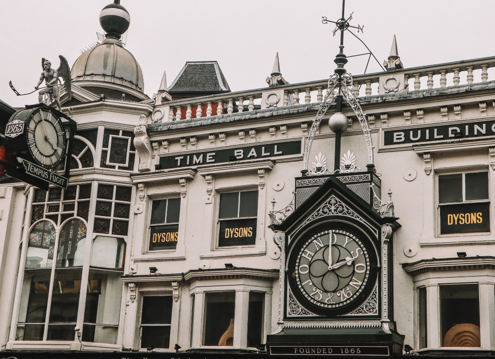 """Time Ball Buildings, Leeds, featuring """"Old Father Time"""""""