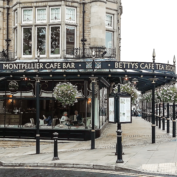 The ultimate place for afternoon tea in the UK is Bettys Cafe and Tearoom in Harrogate UK - perfect for a visit after the Harrogate Turkish Baths
