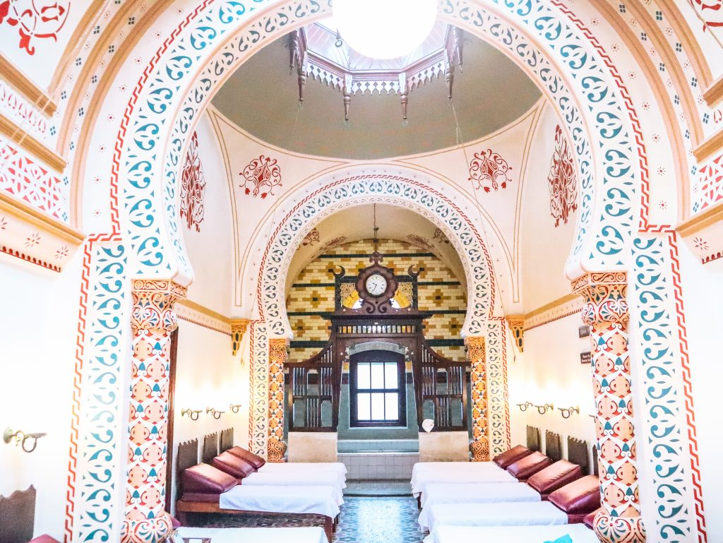 The glorious Islamic inspired interior of Harrogate Turkish Baths, Yorkshire, UK