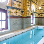 The Ornately Tiled Frigidarium at Harrogate Turkish Baths, Yorkshire, UK