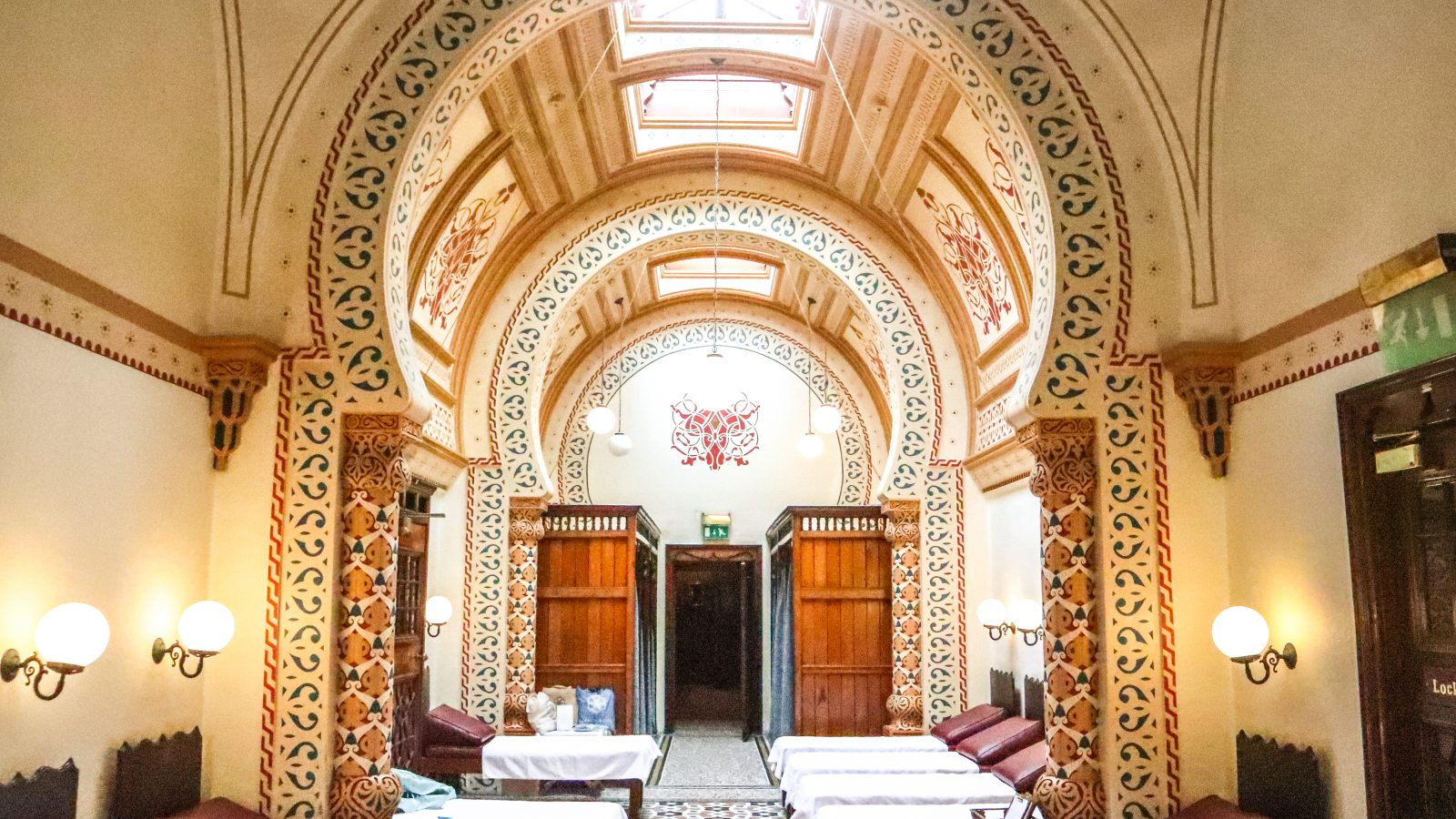 The exquisite Royal Turkish Baths in the UK Spa Town of Harrogate in Yorkshire are the only completely working Victorian Turkish Baths in Britain!