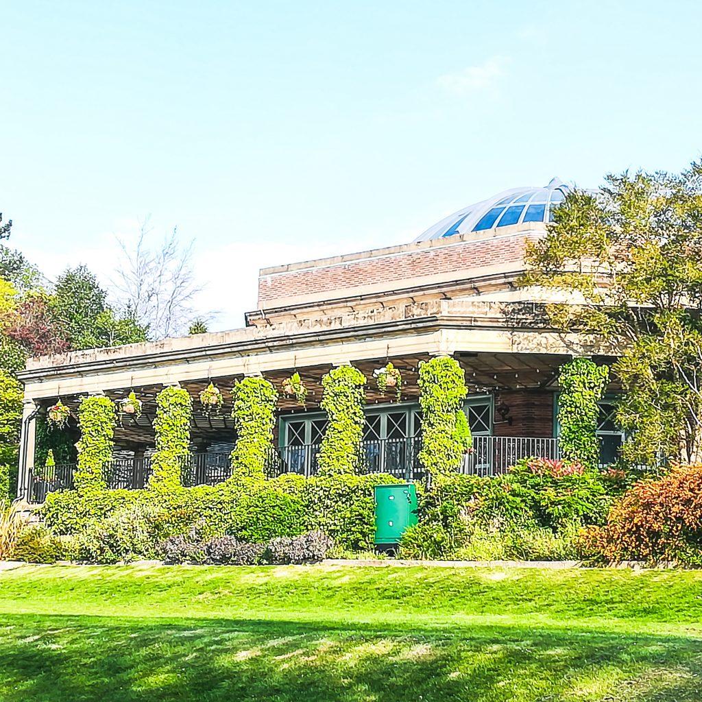 The Art Deco pavilion at Harrogate's Valley Gardens.