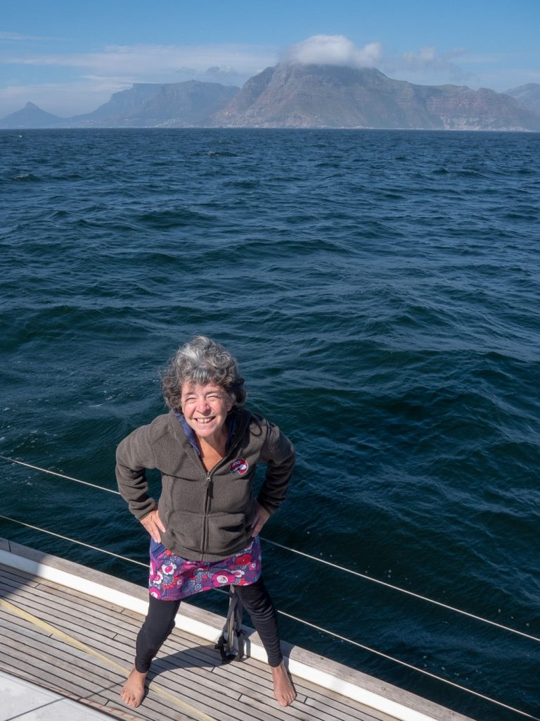 Over 50s sailing blogger Lisa at home on her yacht