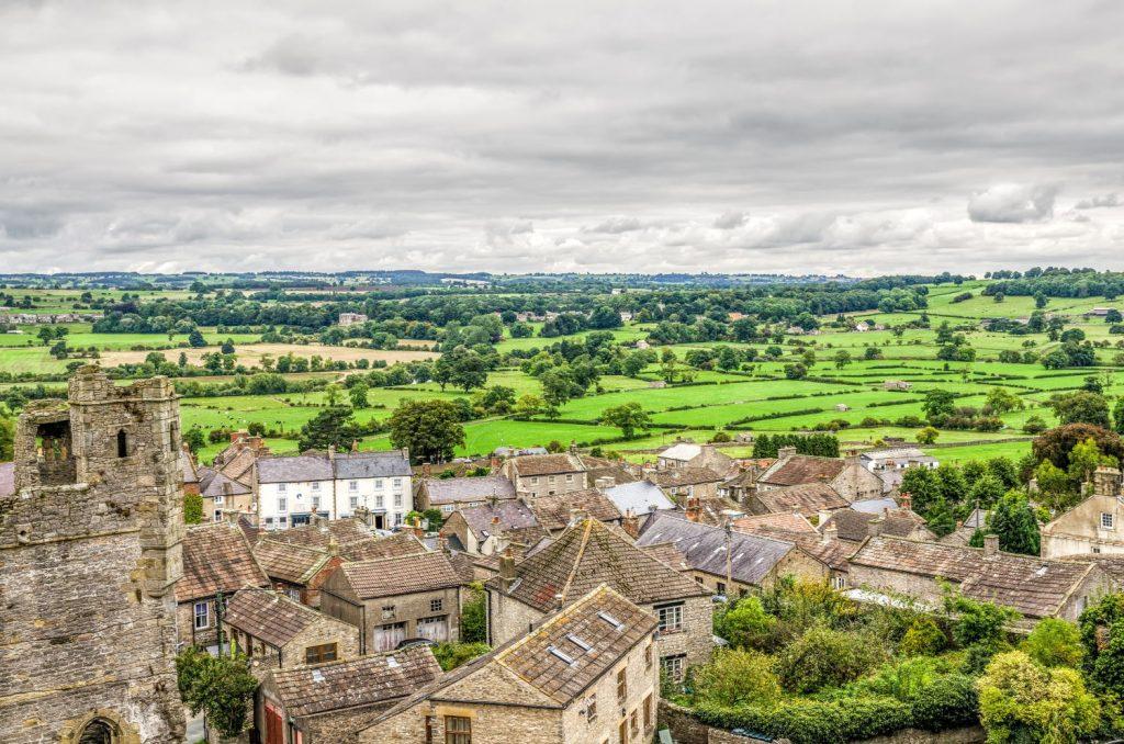 Middleham Castle and village, North Yorkshire.