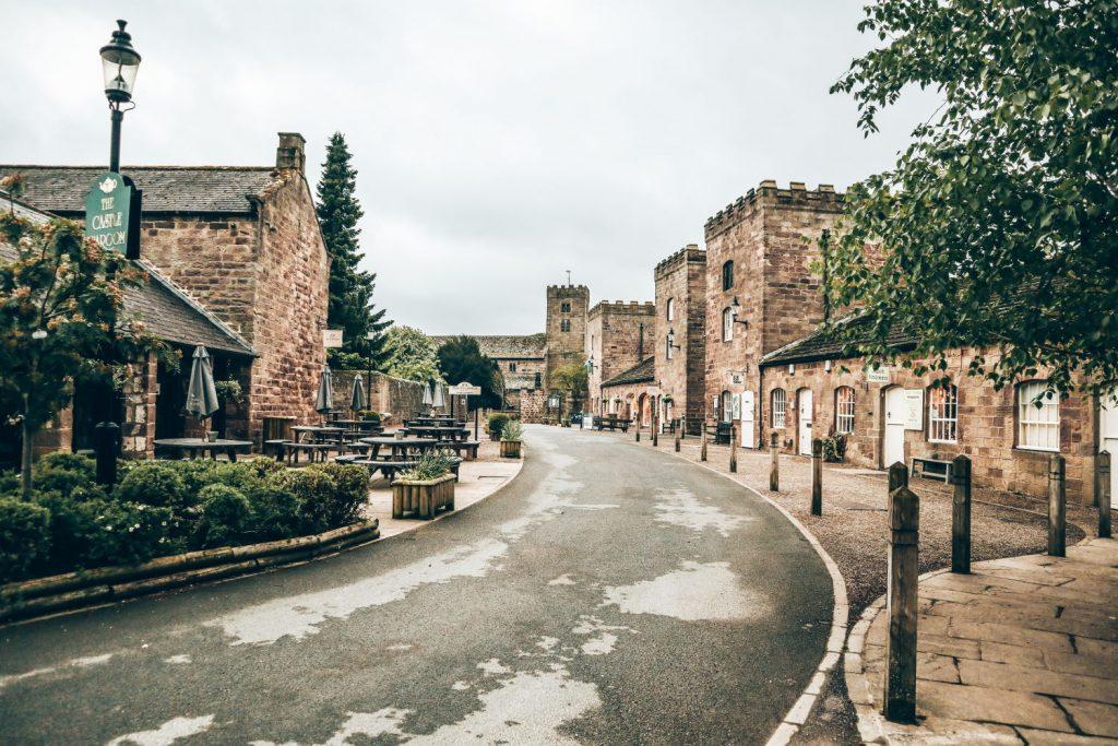 Ripley Castle Yard.