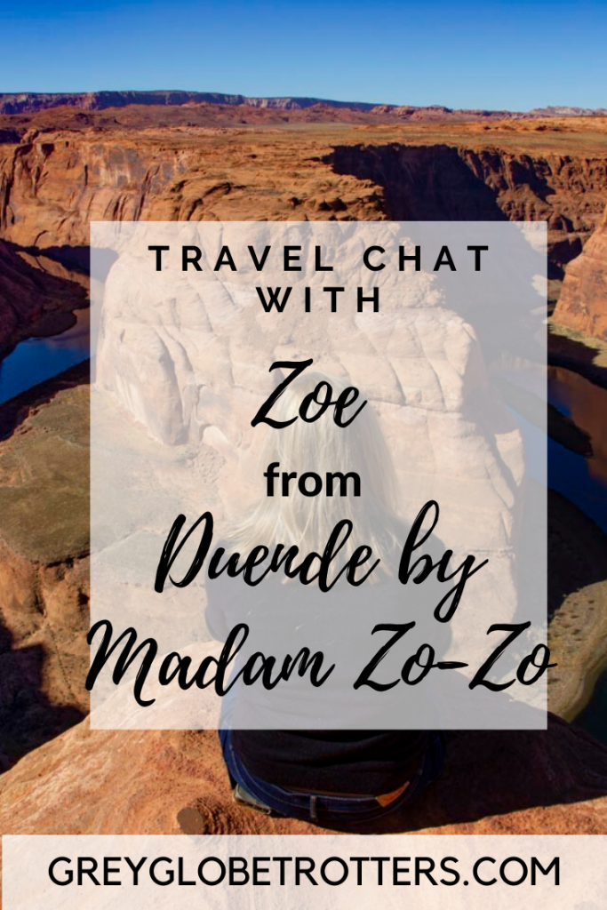 Interview with Travel blogger Zoe Peart