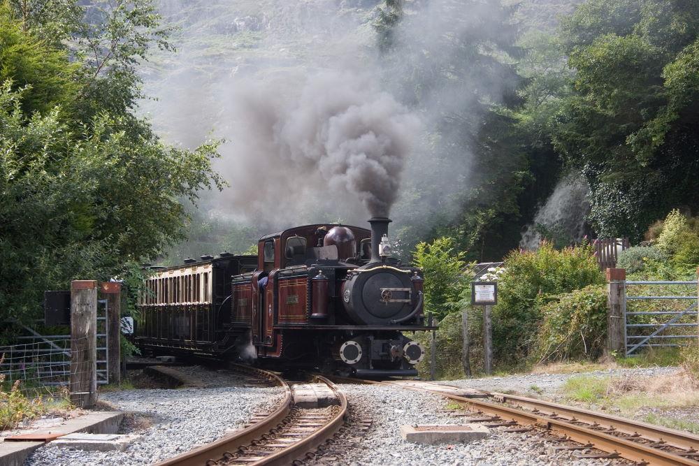 Wales famous Ffestiniog heritage railway