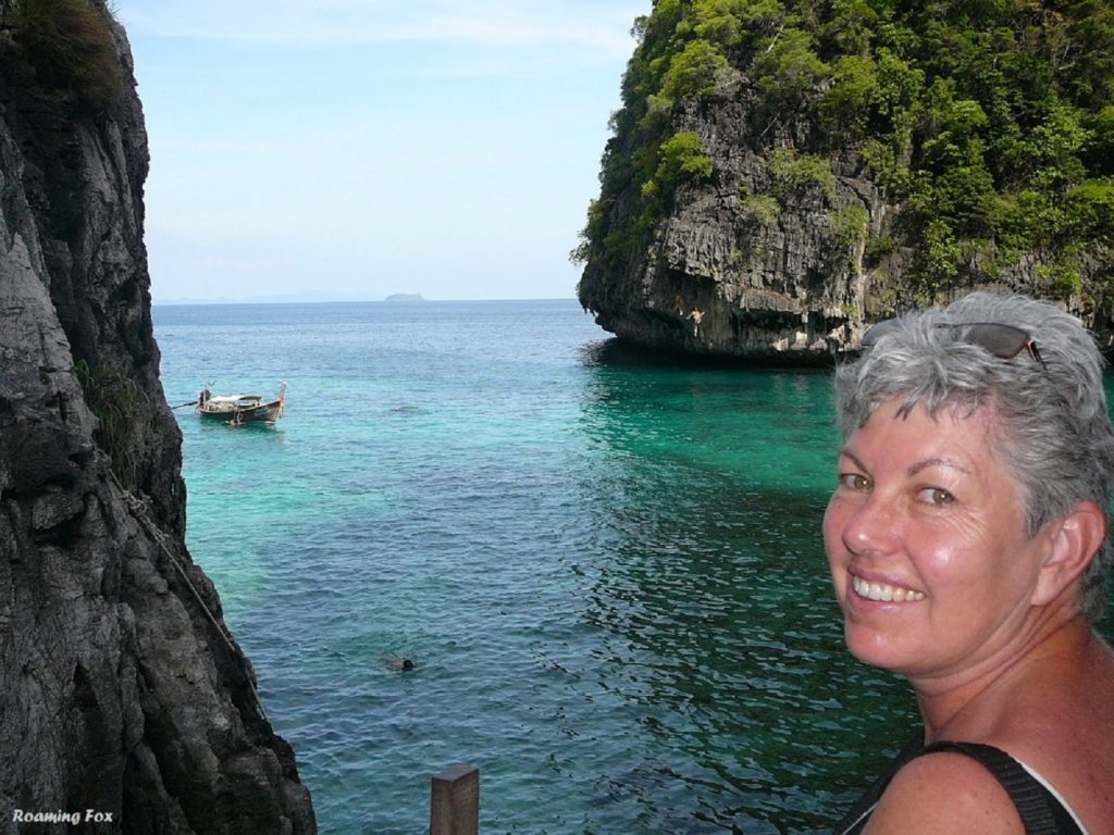 Alma from Roaming Fox enjoying Thailand's Phi Phi Island