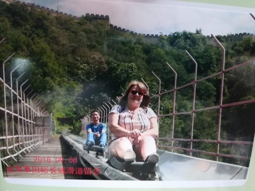 Toboggan down fron the Great Wall of China