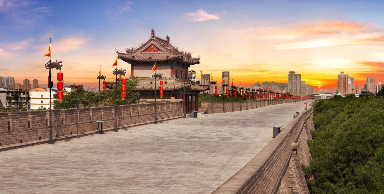 Xian Report. View of City Wall 2 min