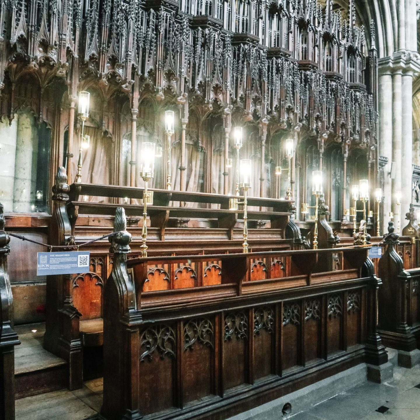 Intricately carved choir stalls