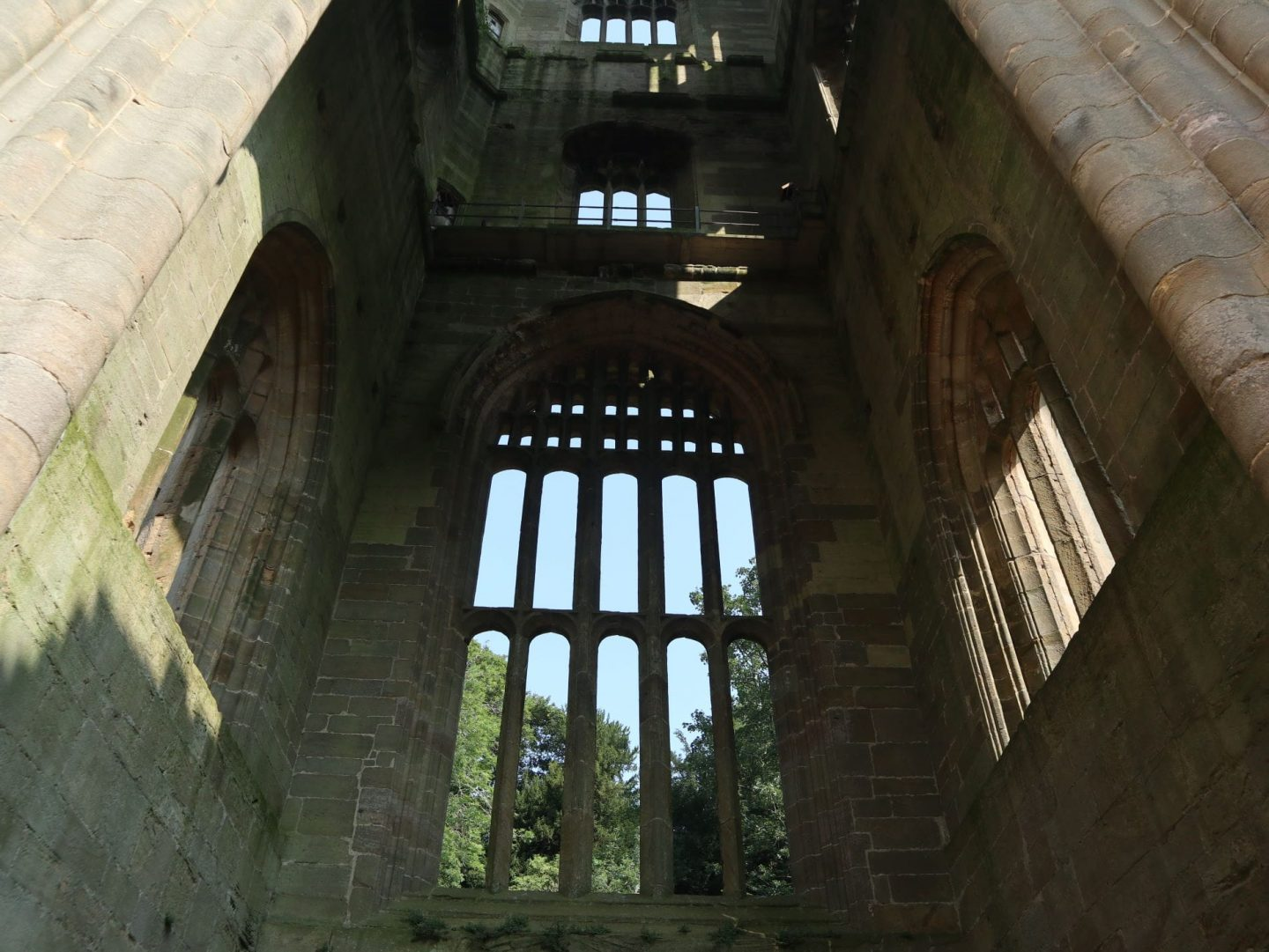 Inside the Belltower Fountains Abbey yorkshire min