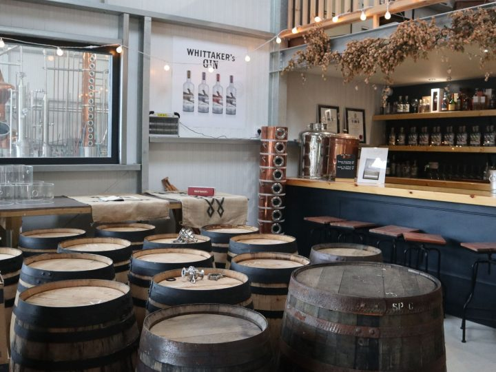 Visiting the gin distillery, Whittaker's distillery, Yorkshire